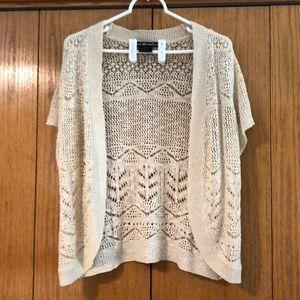 Beige United States Sweaters cardigan, sz L